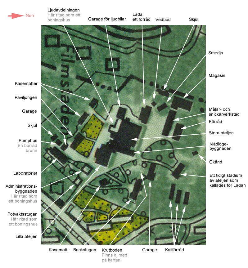 Karta Over Filmstaden I Rasunda 1950